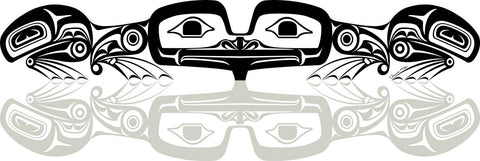 Frog print by Haida artist Clarence Mills