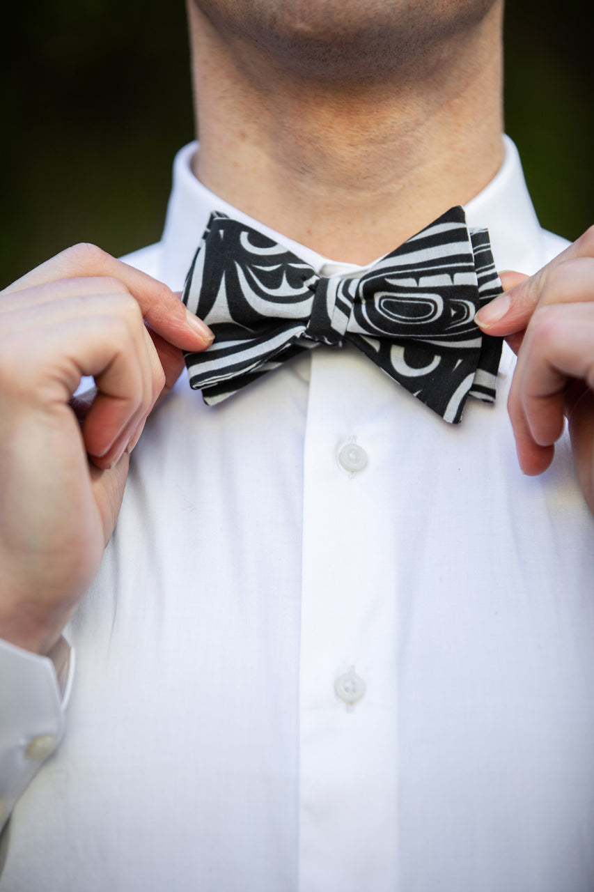 Chloe Angus Design Bow Tie in Modern print by Clarence Mills