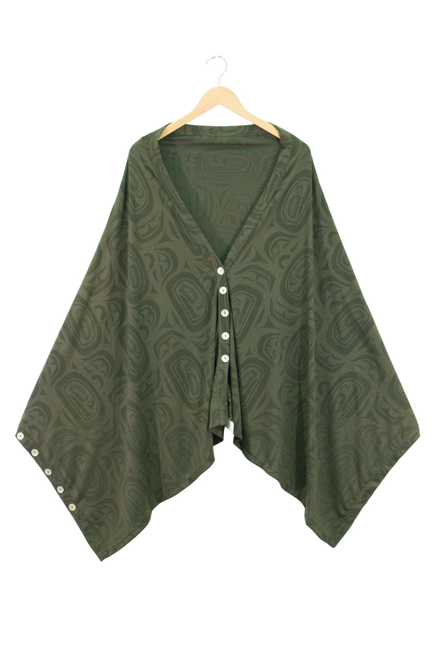 Bamboo Button Wrap - Moss Modern