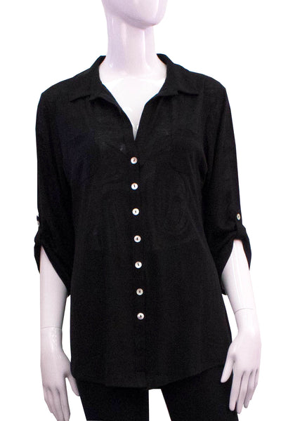 Boyfriend Shirt - Black Modern