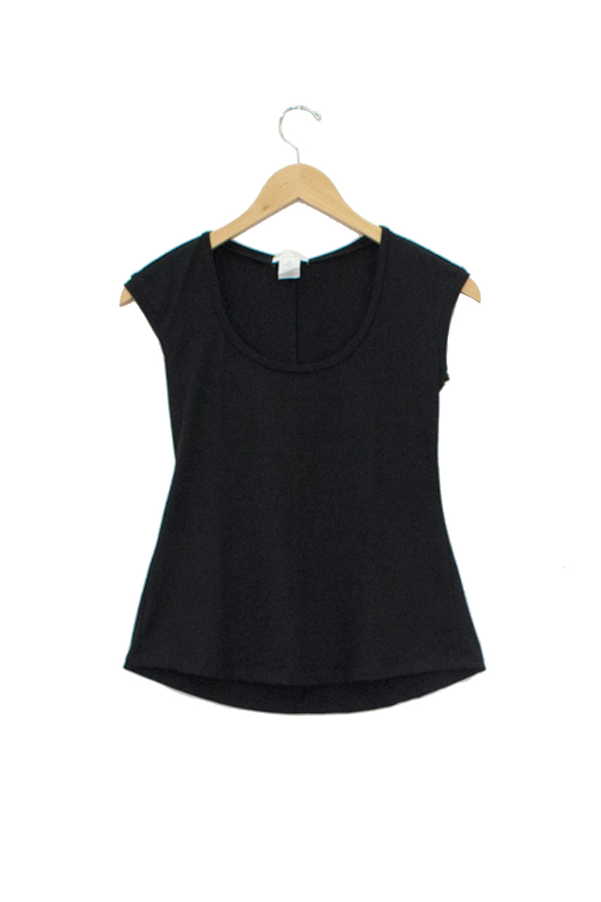 Cap Sleeve Top - Black