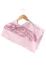 Soft pink junior bear spirit wrap on hanger