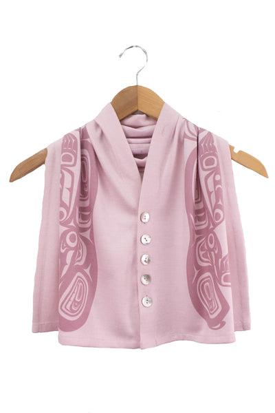 Soft pink junior bear spirit wrap