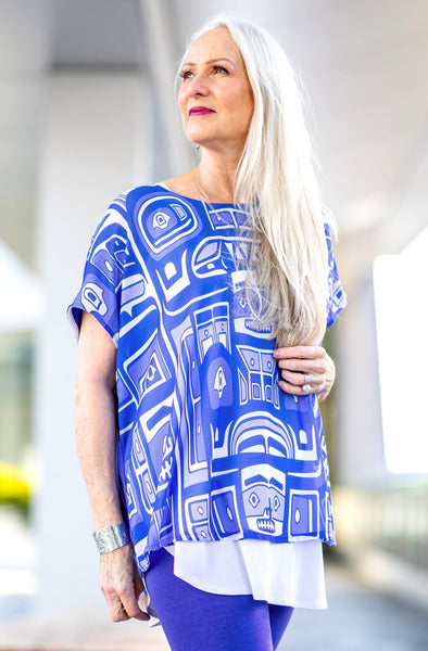 Georgette Top - Iris Chilkat