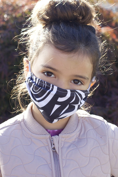 Kids Chitosante Mask - Black/White Modern