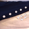 Swarovski Button Wrap - Hyacinth with Clear Crystal