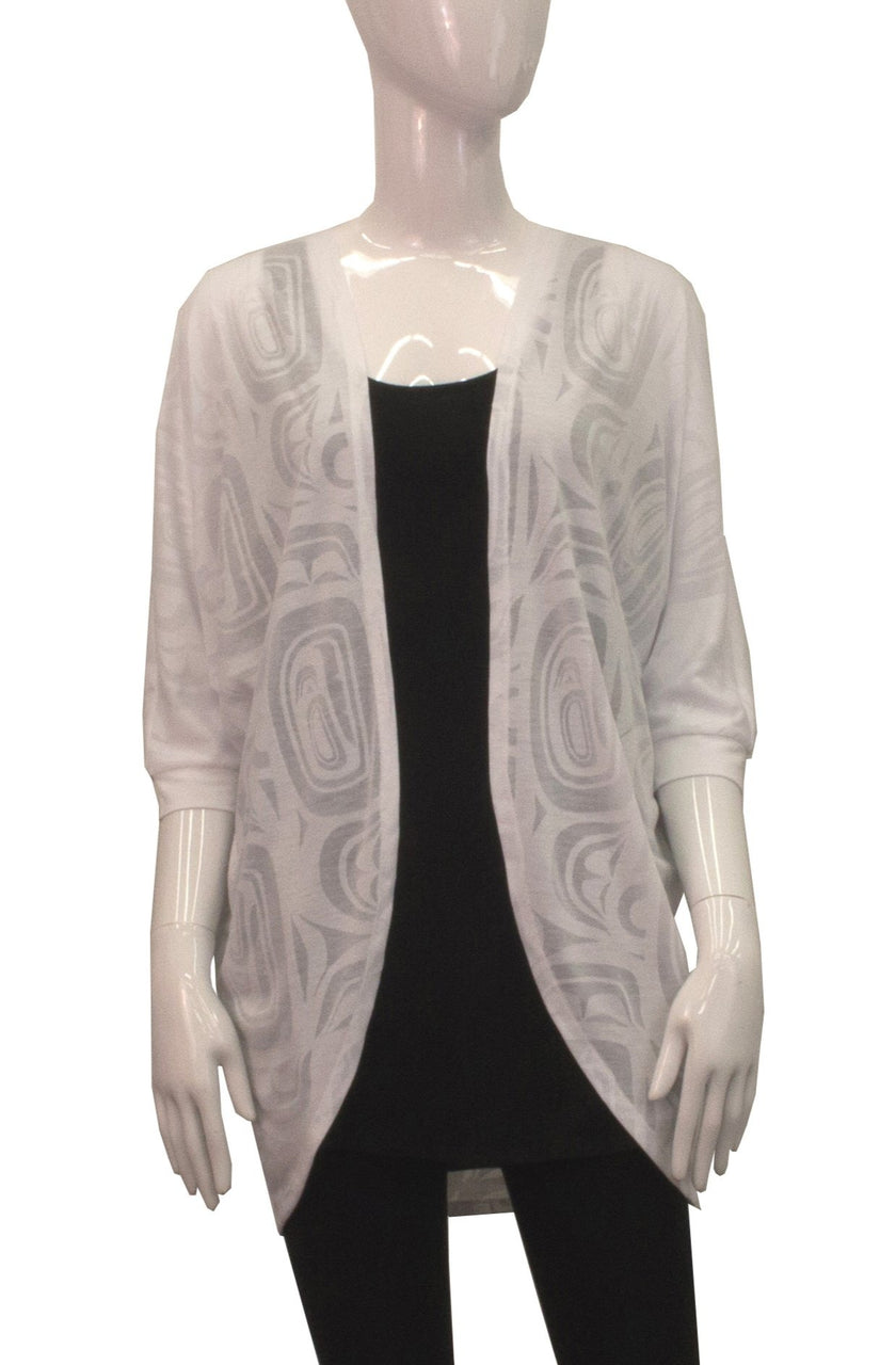 Cocoon Cardigan - White Modern