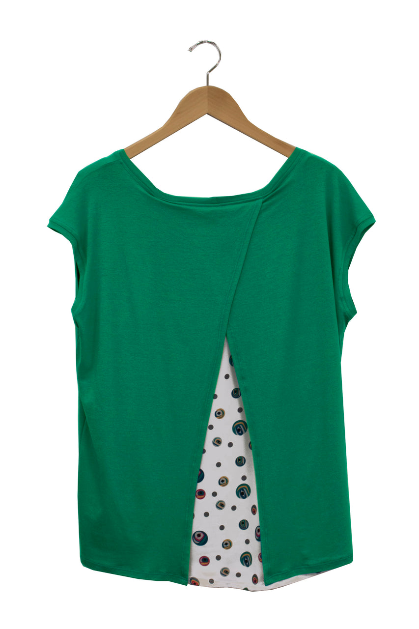 Cross Back Top - Jade