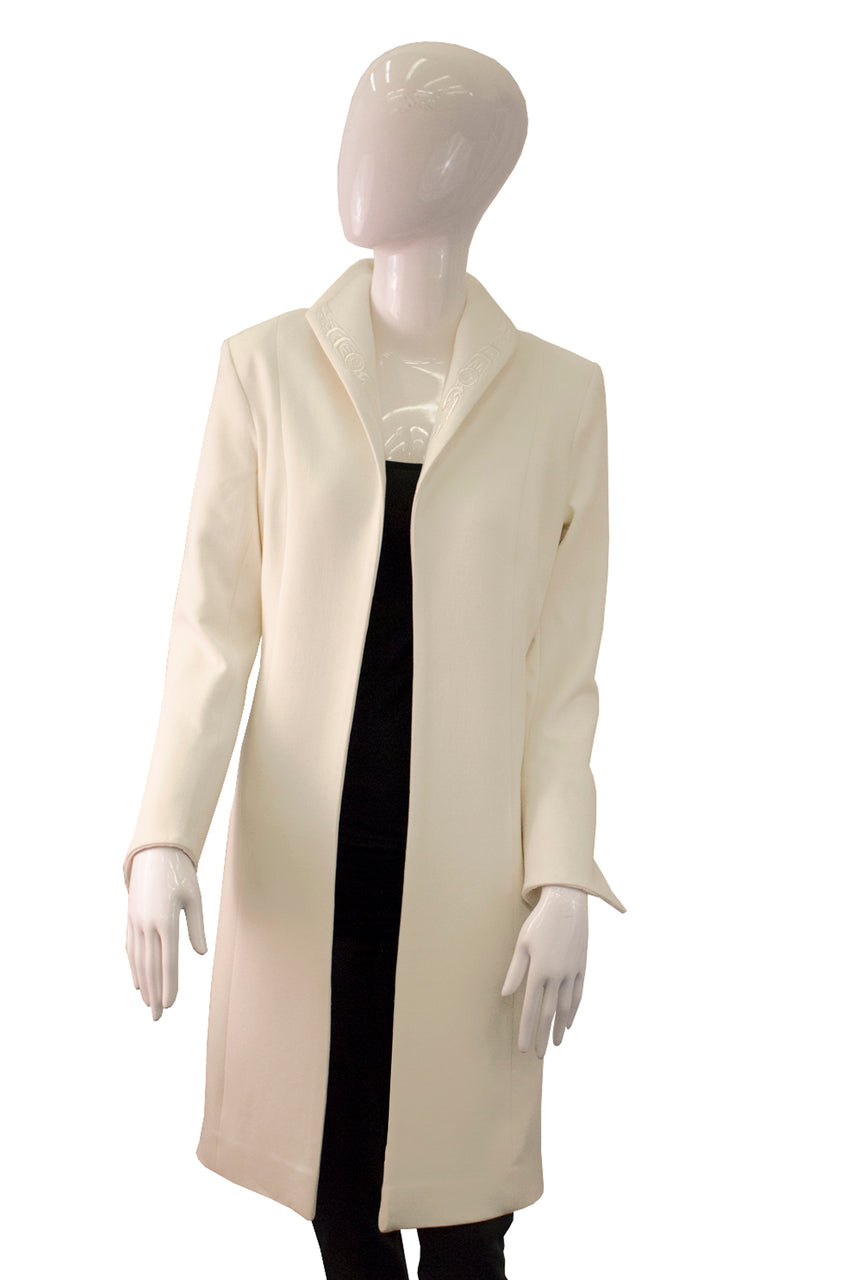 Empress Coat with Hummingbirds - Cream