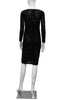 Fitted Boatneck Dress - Black Sheer Modern