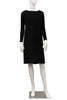 Fleece Boatneck Dress - Black
