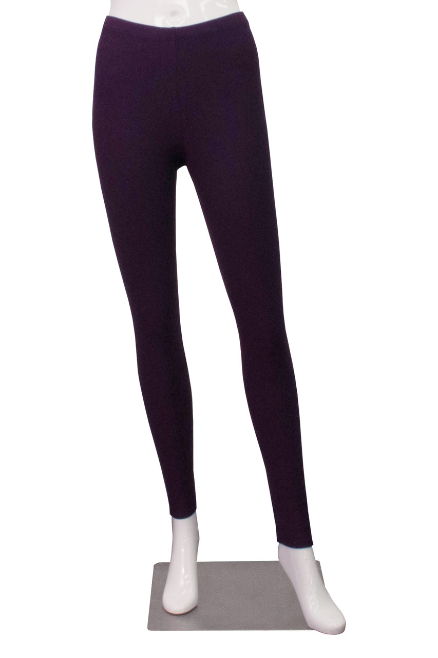 Bamboo Fleece Leggings - Plum