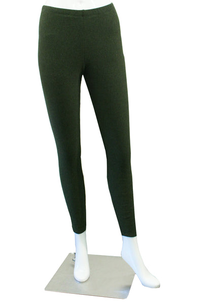 Bamboo Fleece Leggings - Forest