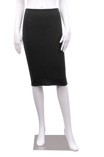 black double layer bamboo peg skirt