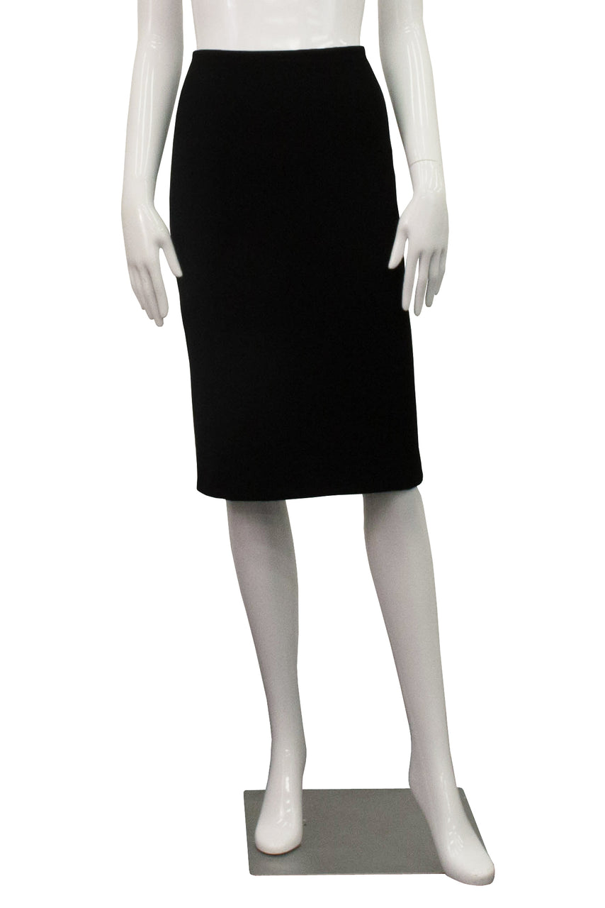 Bamboo Fleece Peg Skirt - Black