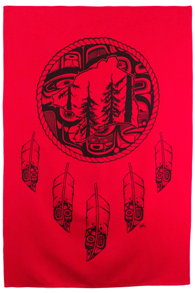 Spirit Blanket - Great Bear Rainforest - Red