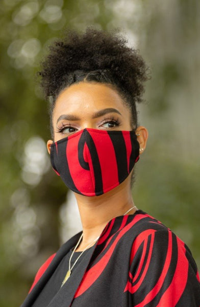 Fleece Mask - Red