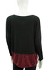Haida Boxy Top - Black/Bordeaux Modern