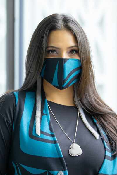 Fleece Mask - Teal