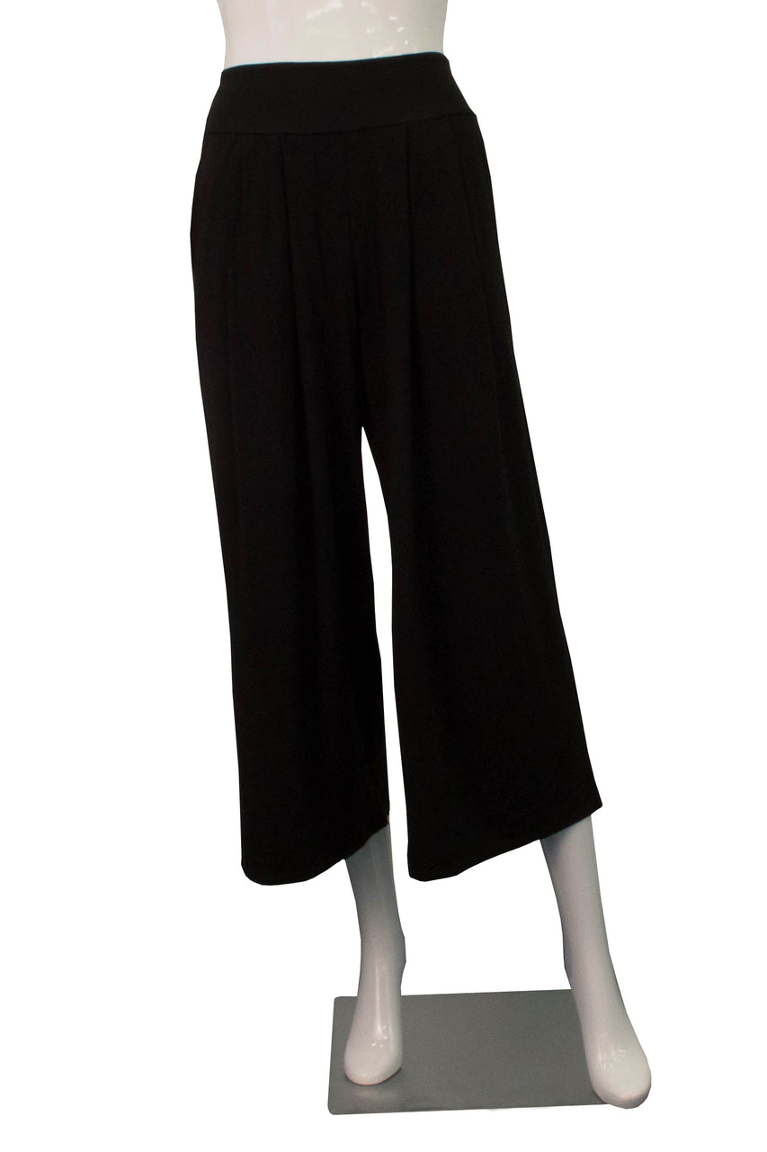 High-Waisted Culotte - Black
