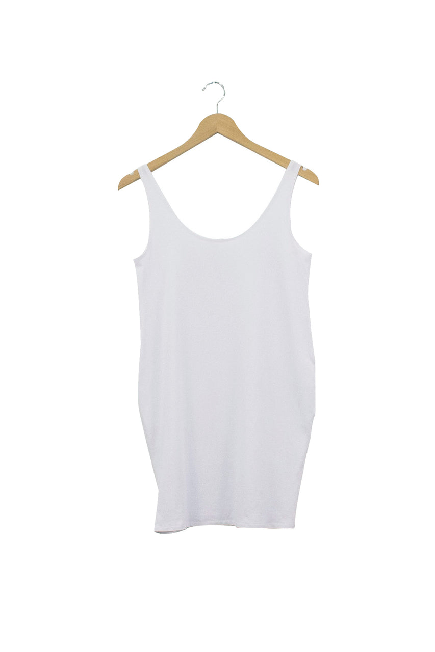Long Tank Top - White