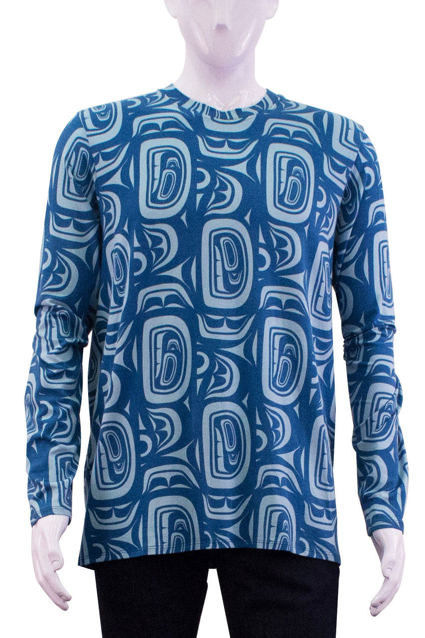 Long Sleeve T-Shirt - Sky Modern