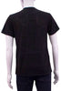 black Unisex Tshirt on men's mannequin back view
