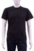 black Unisex Tshirt on men's mannequin front view
