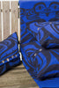 Raven moon frog pacific blue blanket with buttons