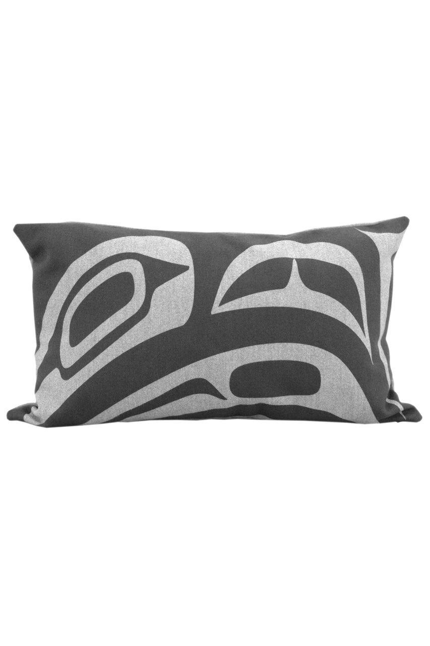 "Pillow Cover 12"" x 20"" - Dynamic Raven - Grey"