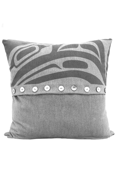 "Pillow Cover 16"" x 16"" - Dynamic Raven - Grey"