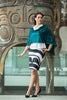 model wearing haida peg skirt