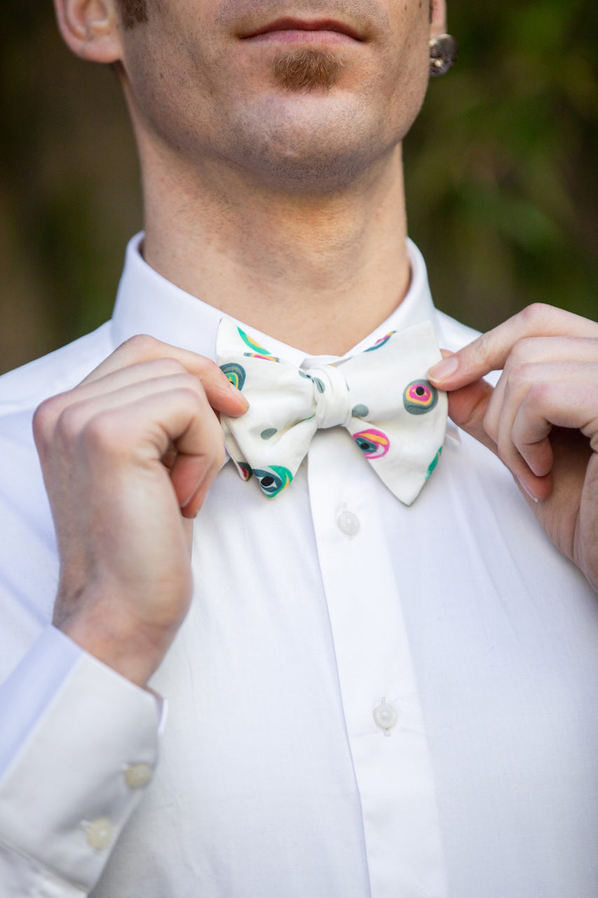 Bowtie and Pocket Square - Multi Roe