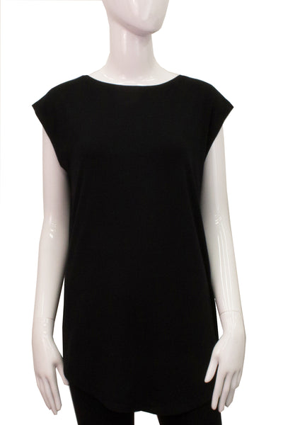 Sleeveless Shirttail - Black