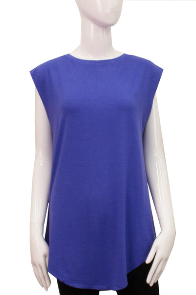 Sleeveless Shirttail - Iris