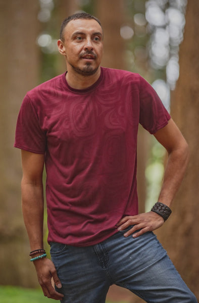 T-Shirt - Bordeaux Modern