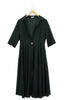 Voile Shirt Dress - Black