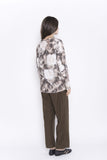 Abstract Floral Ikat Top