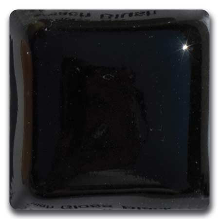 MS-94-L  High Gloss Black Liquid Glaze Laguna Moroccan Sand