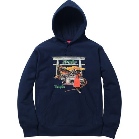 Supreme Shaolin Temple hoodie navy blue