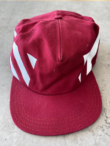Off White Cap - Bordeaux