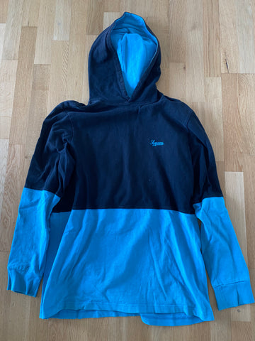 Supreme Two Toned Hoodie sort/teal