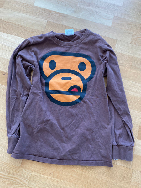 Bape Long Sleeve Ape Brown