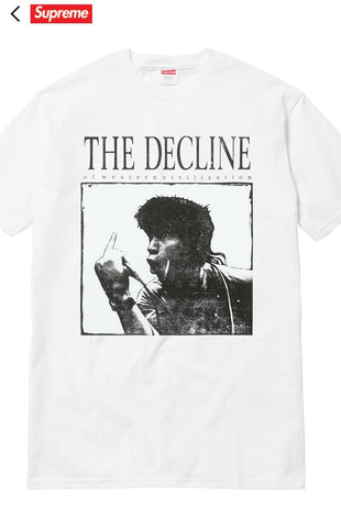 Supreme Decline of western civilization tee hvid
