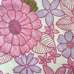 AMAZING Vintage RETRO Sheet UNUSED Cotton fabric