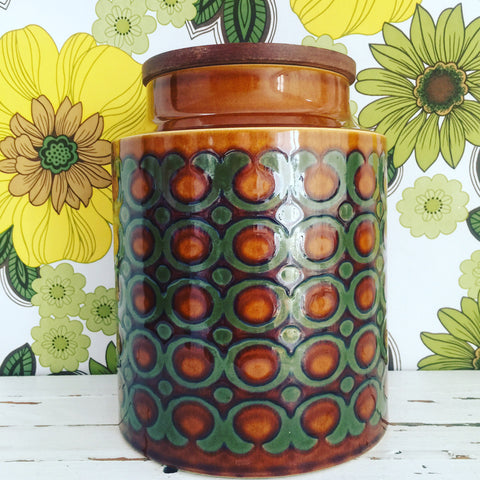 Hornsea LARGE Canister Excellent Condition RETRO Home