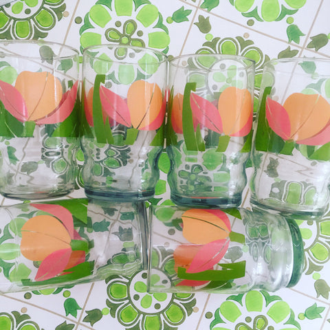 Cute Vintage Caravan Camping GLASSES 70's DINNER Party