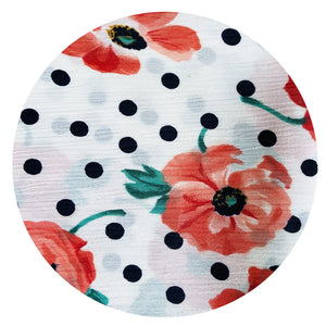 S R Prints NEW YORK London VINTAGE Floral Polka Dot Fabric