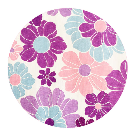BRIGHT Purple RETRO Genuine Vintage Wallpaper By the METRE