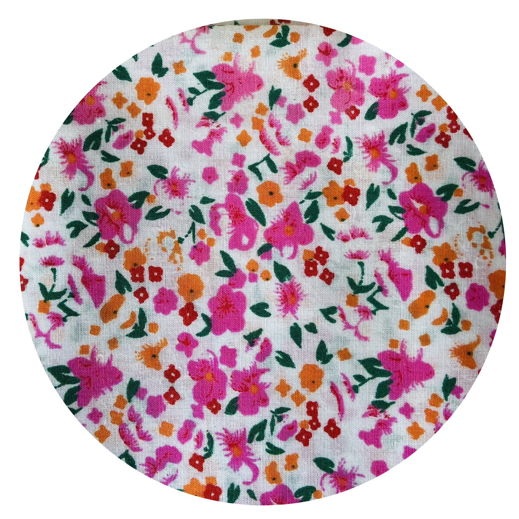 Pretty Pink Cotton Fabric Craft Sewing Patchwork